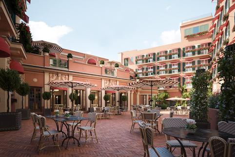 RFH Hotel de la Ville Courtyard 2 Jan 2019