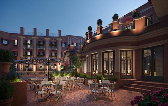 RFH Hotel de la Ville Courtyard Jan 2019